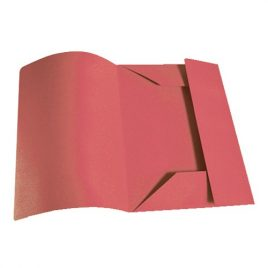 Cartelle 3 lembi Standard s/stampa Rosso 50 pz.