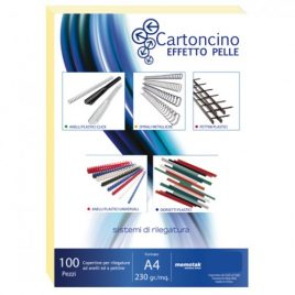 Cartoncino Similpelle A4 Memotak Avorio 100 ff
