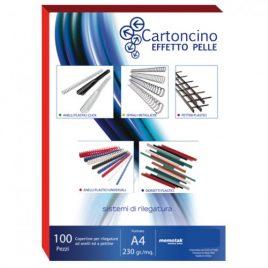 Cartoncino Similpelle A4 Memotak Bianco 100 ff