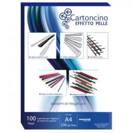 Cartoncino Similpelle A4 Memotak Blu 100 ff