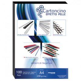 Cartoncino Similpelle A4 Memotak Nero 100 ff