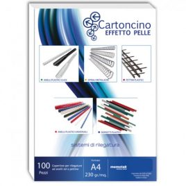 Cartoncino Similpelle A4 Memotak Rosso 100 ff