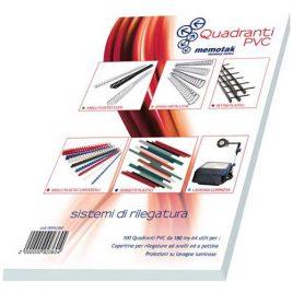 Copertine PVC Quadranti Video A4 150 M 100 pz.