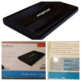 MEDIACOM HDD BOX EXT. USB 2-2,5″ NERO