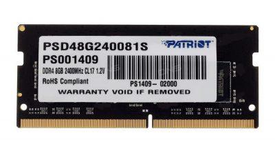 SO-DIMM PATRIOT 8 DDR4 2400MHZ